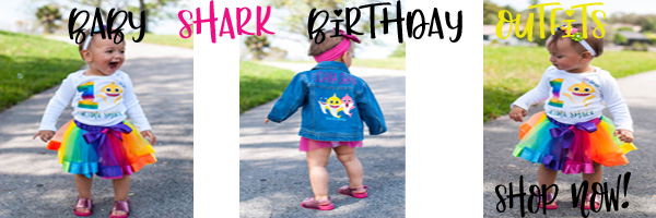 baby shark 1st birthday clothing