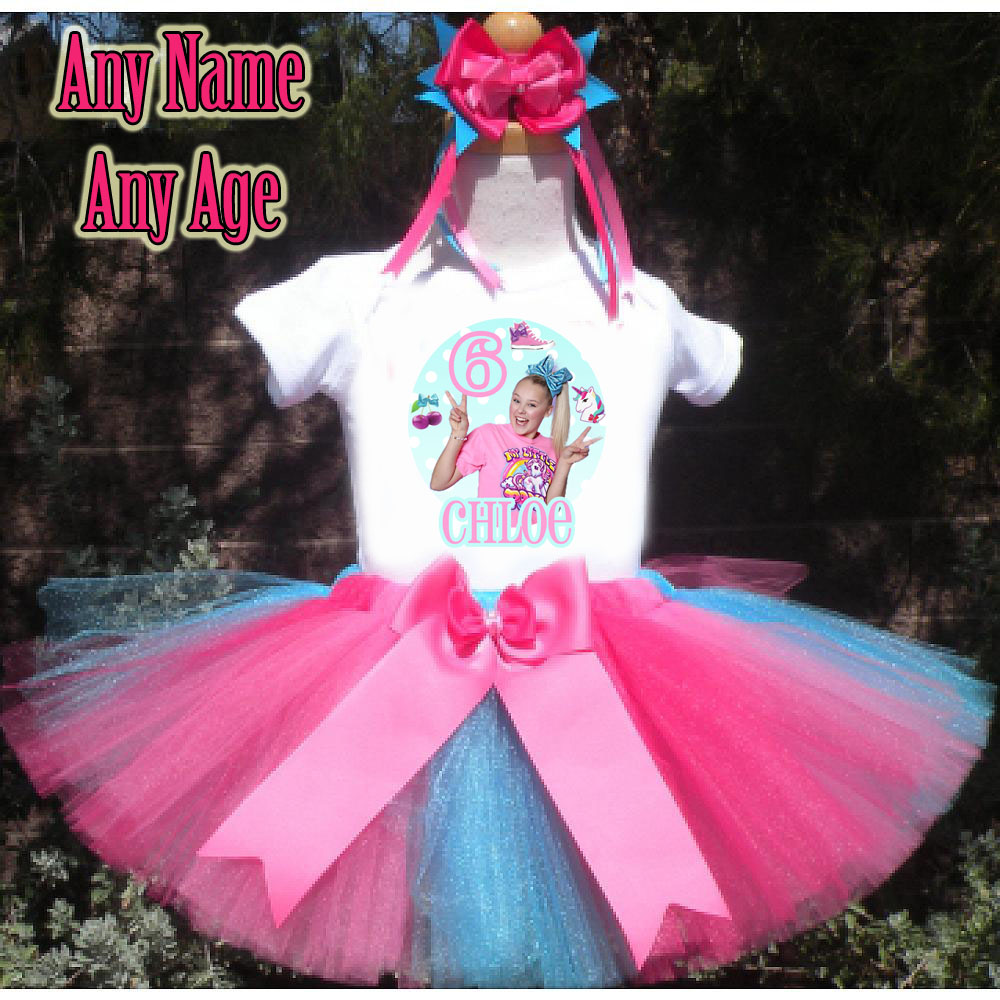 Jojo Birthday Outfit for Girls Siwa Birthday Outfit Personalized Add Name