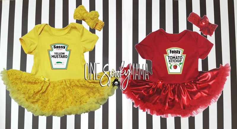 Ketchup and Mustard Tutu Costume For Baby Girls
