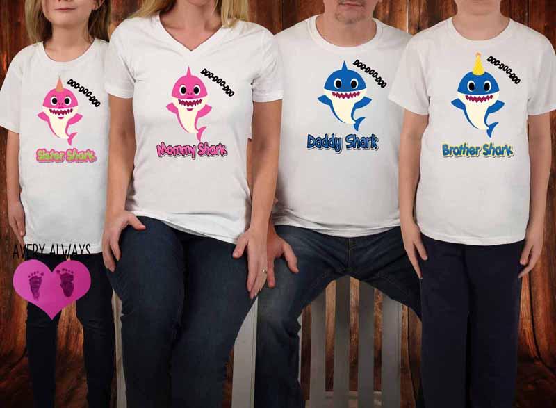 Baby Shark Matching Family Birthday Shirts