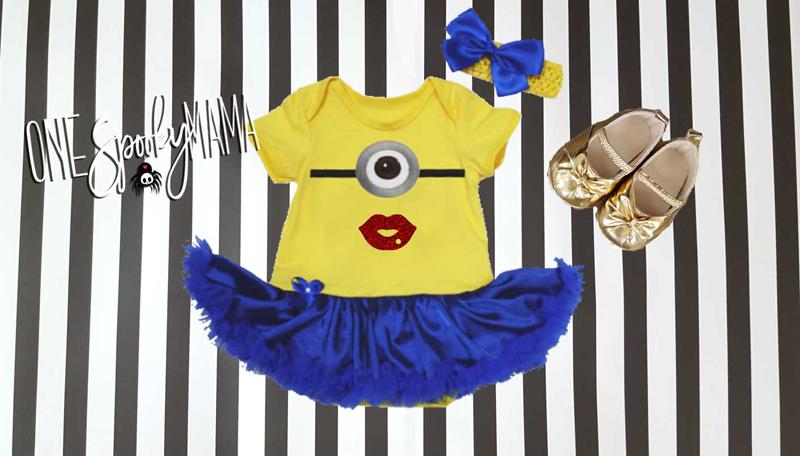 Minion Tutu Costume For Baby Girls