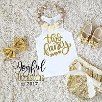 Two Fancy 2nd Birthday Outfit With Shorts Summer - Gold Sequin Birthday Bloomers Set For Two Year Old Toddler Girls