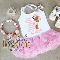Pink and White Sparkly African American Birthday Cake First Birthday Tutu Dress For Baby Girl