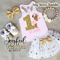 African American Pink and Gold Birthday Cake 1st Birthday Tutu Outfits