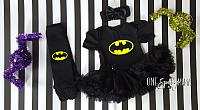 Batgirl Tutu Costume For Baby Girls 3 Pieces
