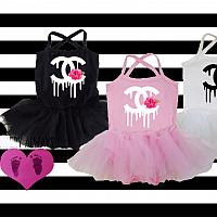 Dripping Designer With Flower Sleeveless Tank Tutu Dresses For Baby Girls