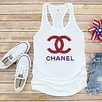 Chanel Inspired Glitter 4th of July Tanks Tshirts For Babies Toddlers and Women