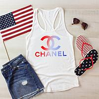 Chanel Inspired 4th of July Tanks Tshirts For Babies Toddlers and Women