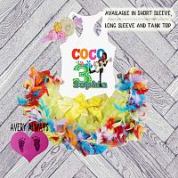 Cute Personalized Coco Birthday Feather Tutu Outfit (Ages 1-6)