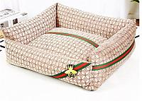 Gucci Fly Designer Inspired Pet Dog Cat Beds Available in Tan (3 Sizes)