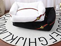 Gucci Fly Designer Inspired Pet Dog Cat Beds Available in White and Black (3 Sizes)