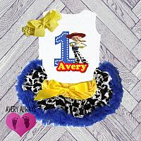 Cute Personalized Toy Story Jessie 1st Birthday Tutu Outfit