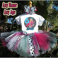 JoJo Siwa Inspired Blue and Pink Birthday Girl Tutu Outfit - Personalized Ages 1-16