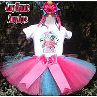 Blue and Pink JoJo Siwa Inspired Birthday Girl Tutu Outfit - Personalized Ages 1-16