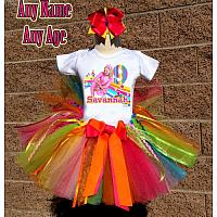 Rainbow JoJo Siwa Inspired Birthday Girl Tutu Outfit - Personalized Ages 1-16