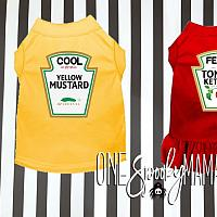 Cute Matching Ketchup and Mustard Halloween Costumes For Dogs and Cats