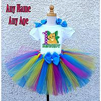 Rainbow Lion King Birthday Girl Tutu Outfit - Personalized Ages 1-16