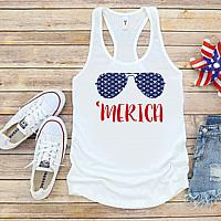 LV Inspired America 4th of July Tanks Tshirts For Babies Toddlers and Women