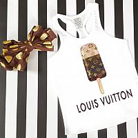 LV Inspired Ice Cream Tanks Tshirts For Babies, Toddlers, Kids and Women