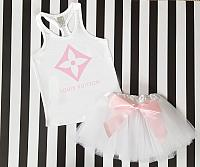 Pink LV Inspired Tutu Outfit For Babies, Toddlers, Kids and Women