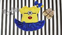 Minion Tutu Costume For Baby Girls