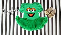 Oscar The Grouch Halloween Tutu Costume For Baby Girls