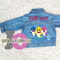 Custom Baby Shark Denim Jacket For Babies To Toddlers
