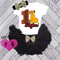 The Lion King Black 1st Birthday Baby Girl Tutu Outfit Personalized