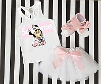 Pink Supreme LV Minnie Inspired Tutu Outfit For Babies, Toddlers, Kids and Women