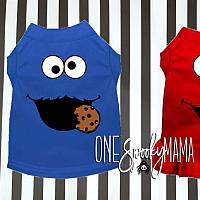 Cute Clothing For Pets  Cute Cookie Elmo Monster Matching Outfits Dress Shirt Costumes For Pets Cats Small Large Dogs Pet Supplies