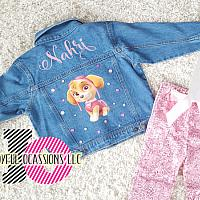 Custom Paw Patrol Denim Jacket For Babies To Toddlers
