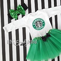 Starbucks Coffee Tutu Costume For Baby Girls