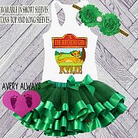 The Lion King Green Birthday Tutu Outfit  Personalized (Ages 1-6)